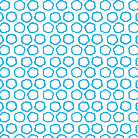 Repeating blue clouds, seamless pattern