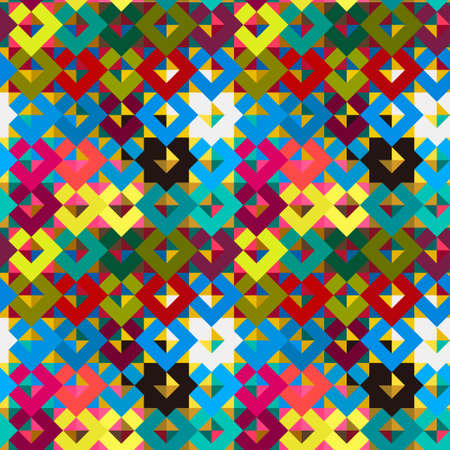 Rhombuses and triangles seamless pattern, modern stylish texture, repeating geometric tiles  Illustration