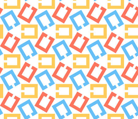 chain links: Chain links, abstract geometric vector seamless pattern background.