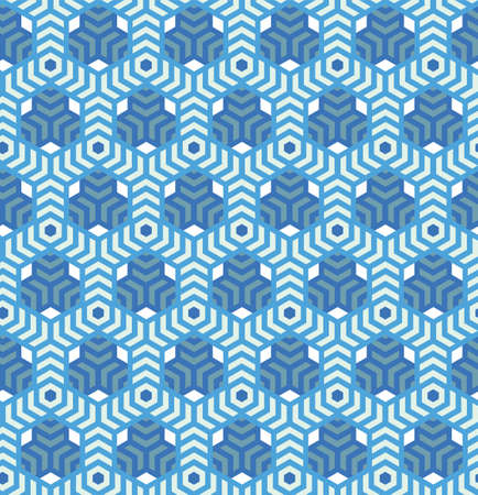 Hexagons,abstract geometric vector seamless pattern background.