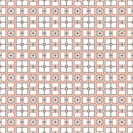 Squares and crosses, abstract geometric vector seamless pattern background.