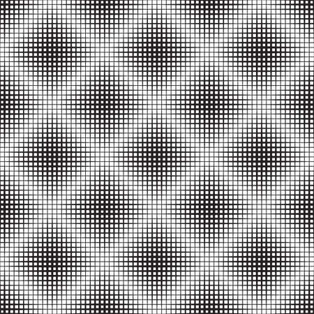 Black and White Abstract Geometric Vector Seamless Pattern Background