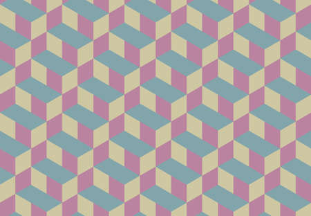 3d Cube Vector Seamless Pattern Background  Vector