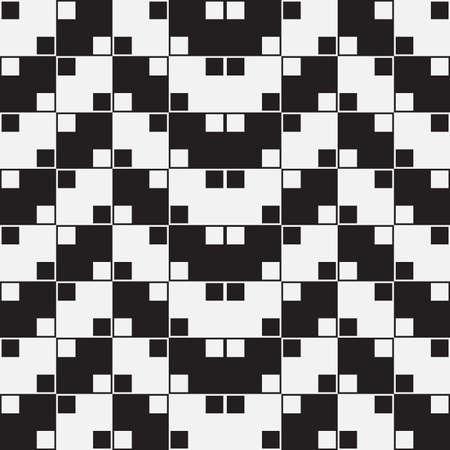 Herringbone Weave, Black and White Optical Illusion Illustration
