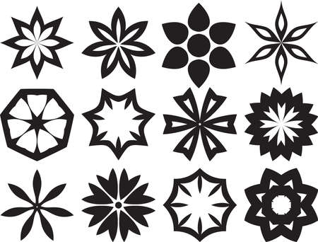 stylistic: Collection of 12 Different Stylistic Flowers