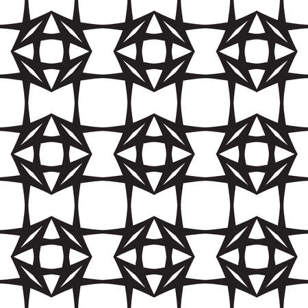 Diamonds, Black and White Abstract Geometric  Illustration
