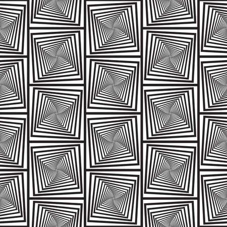 background image: Ilusi�n �ptica blanco y negro, Vector ininterrumpidas de fondo, Imagen consiste en cuadrados y rect�ngulos solamente.