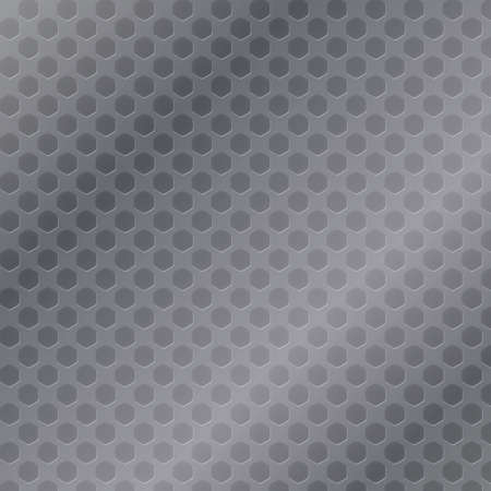 netty: Pent�gono celular metal de fondo, ilustraci�n vectorial.
