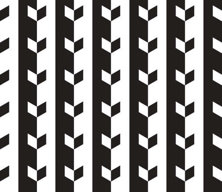 Black and White Vector Seamless Pattern Background. Lines Appear to Tilt, but Image Consists of Squares Only.