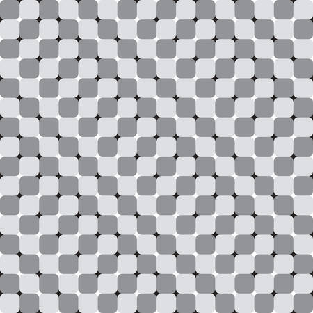 Waving Squares, Black and White Optical Illusion, Vector Seamless Pattern Background. Vector