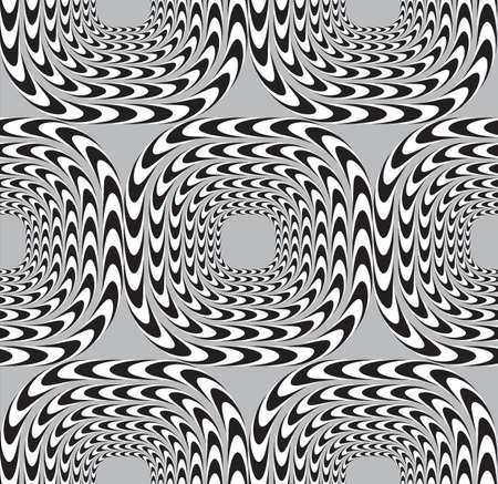 Optical Illusion, Vector Seamless Pattern Background, Squares Moves Slowly. Vector