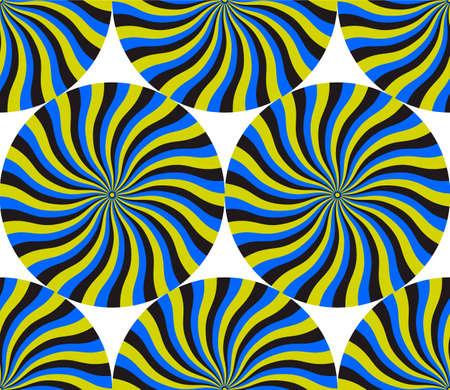 ベクトル パターンの抽象的な背景、スピン サイクルの錯覚