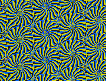 Optical Illusion Spin Cycle, Vector Pattern Abstract Background. Vector