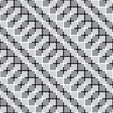 Waving Shapes, Black and White Optical Illusion, Vector Seamless Pattern Background. Vector