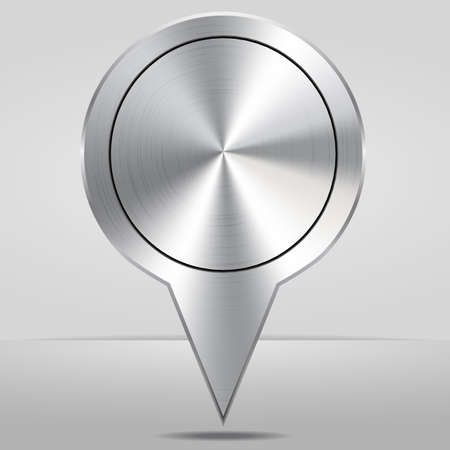Silver Map Location Pointer Icon Vector Illustration. Vector