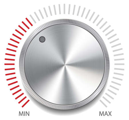 controlling: Volume Button Knob, Vector Illustration