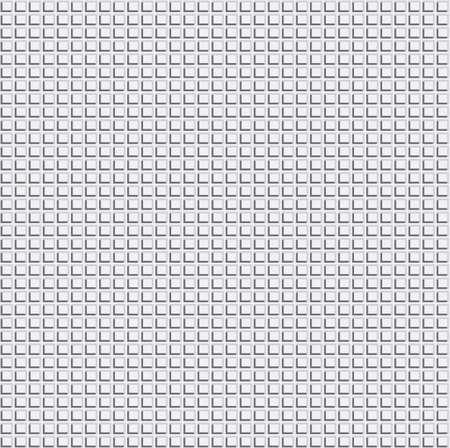 Pixel Grid Texture over Light Grey Background. Vector Illustration Web Seamless Pattern. Vettoriali
