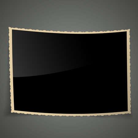 Empty Vintage Photo Frame, Vector Illustration Background. Illustration
