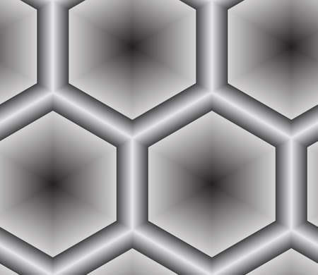 3D Abstract Lattice Seamless Pattern, Vector Illustration.