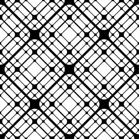 Repeating Geometric Tiles with Rounded Rhombuses, Vector seamless pattern Illustration