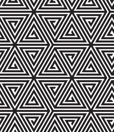 white abstract: Triangoli, in bianco e nero astratto senza soluzione di continuit� motivi geometrici, illustrazione vettoriale. Vettoriali