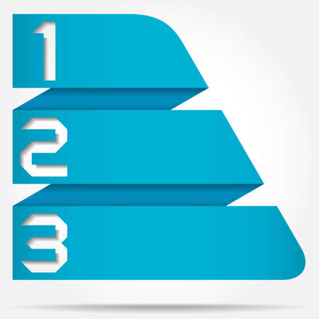 3d Origami Style Numbered Banner Template Triangle Based, Vector Illustration