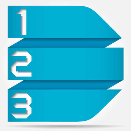 3d Origami Style Numbered Arrow Banner Template, Vector Illustration Vector
