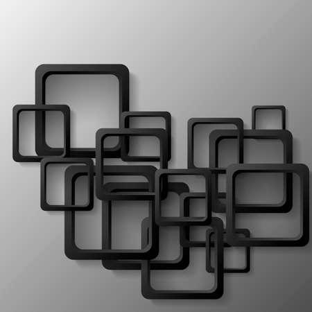 Abstract 3D Geometrical Design, Vector Illustration Background Illustration