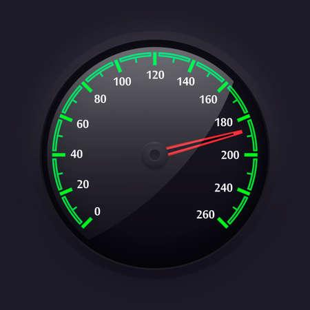 Simple Speedometer Design, Vector Illustration. Illustration