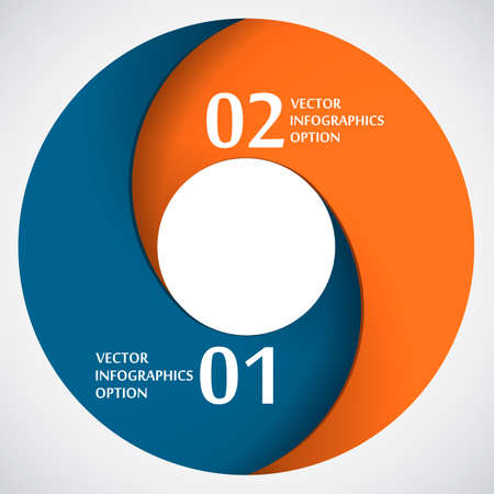 Abstract Paper Circle Shape, Infografics Template, Vector Illustration