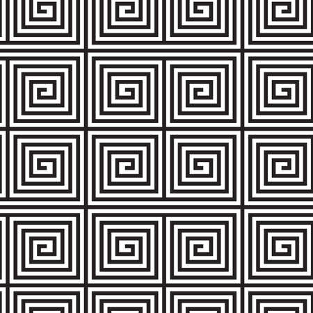 op art: Black and White Op Art Design, Vector Seamless Pattern Background, Lines Only.