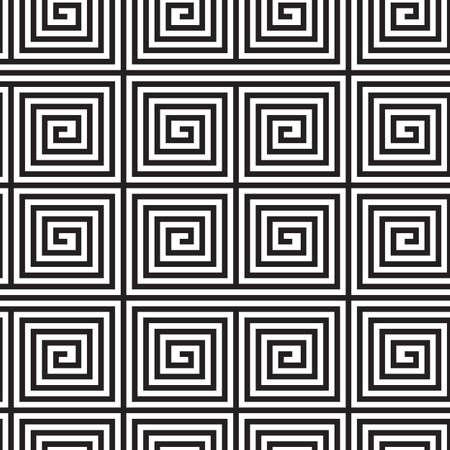 arte optico: Blanco y Negro Op Art Design, Vector ininterrumpidas de fondo, S�lo Lines.