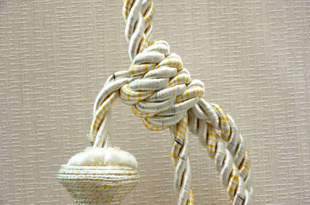 Curtain decorative rope Stock Photo