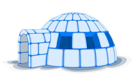 esquimales: Nieve Igloo, ilustración vectorial