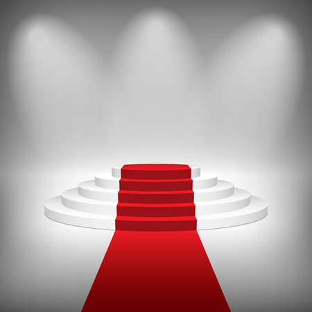Staircase with Red Carpet, Vector Illustration. Zdjęcie Seryjne - 32557364