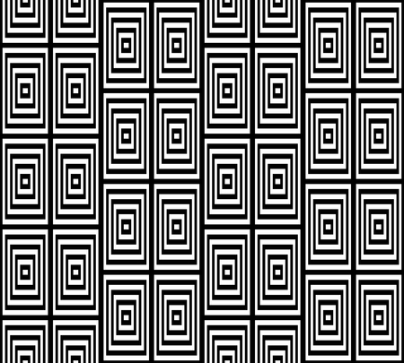 bases: Abstract Square Bases Black and White Seamless Pattern, Vector Illustration. Motion Illusion Appear.
