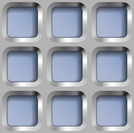 metal lattice: Square Metal Lattice, Vector Seamless Pattern.