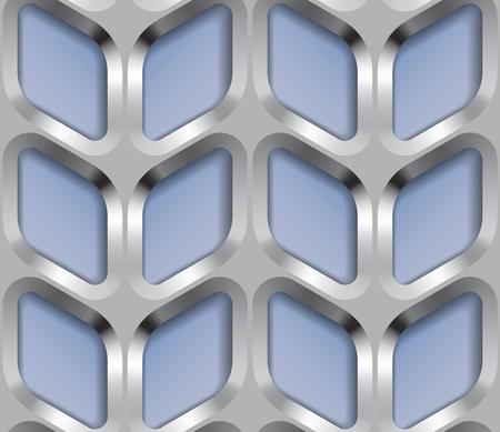 metal lattice: Abstract Metal Lattice, Vector Seamless Pattern.