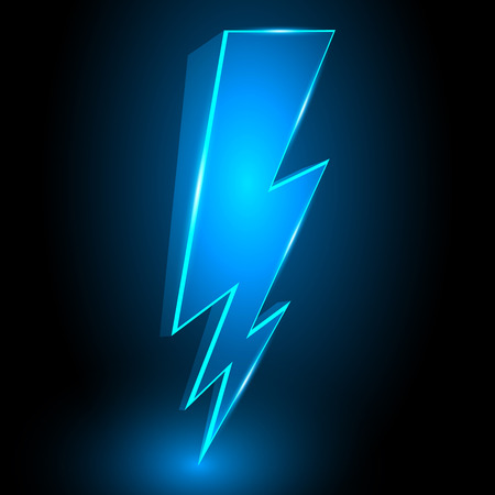 lightning: 3D Sparkling Lightning Bolt Abstract Vector Background Illustration Illustration