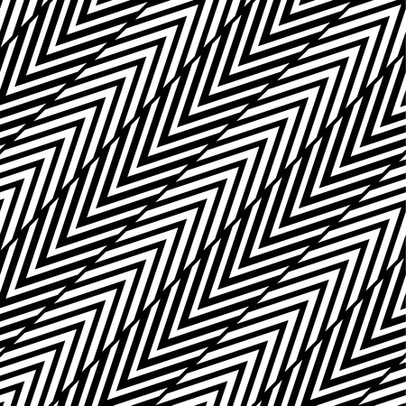appear: Abstract Black and White Herringbone Illusion Vector Seamless Pattern. Line appears to tilt.