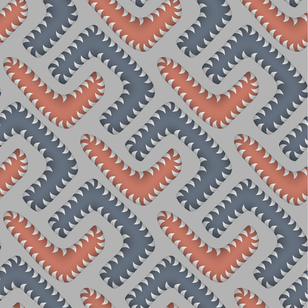 appear: Abstract Vector Seamless Pattern with Worms. Some motion illusion effect may appear.