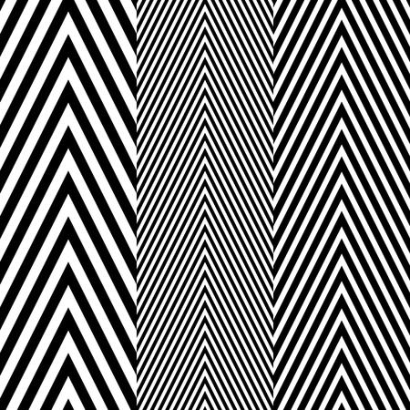 抽象的な黒と白のヘリンボーン ファブリック スタイル ベクトル シームレスなパターン  イラスト・ベクター素材
