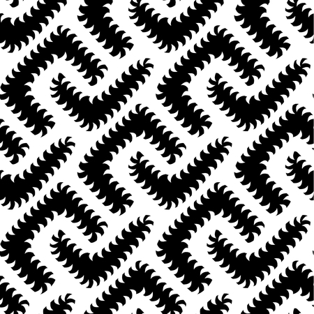 appear: Abstract Vector Black White Seamless Pattern with Worms. Some motion illusion effect may appear.