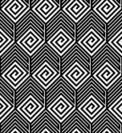 Abstract Black and White ZigZag Vector Seamless Pattern Vector