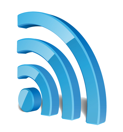 Wi Fi Wireless Network Symbol, Vector Illustration 向量圖像