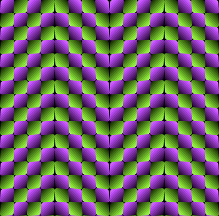 appear: Rhombuses Optical illusion Vector Seamless Pattern, Some Bulging Effect Appear