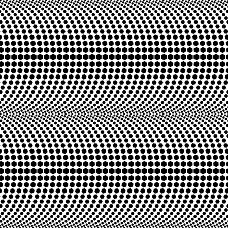 Abstract Hexagon Based Halftone Black and White Vector Seamless Pattern Background Vector