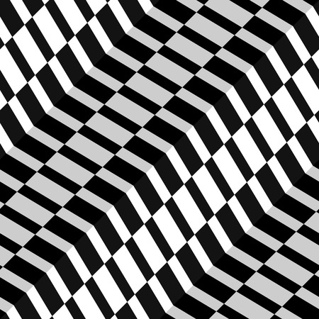 blanket fish: Abstract Checkered Herringbone Fabric Style Vector Seamless Pattern, Some Motion Illusion May Appear