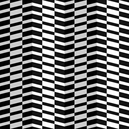Abstract Checkered Herringbone Fabric Style Vector Seamless Pattern, Some Motion Illusion May Appear