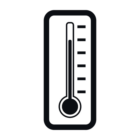 Thermometer Icon, Temperature Measurement  Concept, Vector Illustration